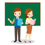 Teachers Standing In Classroom Royalty Free Stock Image