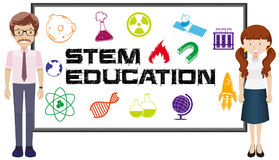 Teachers and stem education on board. Illustration Stock Photography