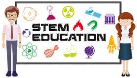 Teachers and stem education on board royalty free illustration
