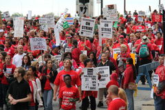Teachers Strike Chicago I Stock Images