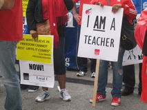 Teachers Strike Chicago U Royalty Free Stock Photography