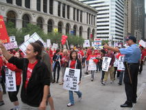 Teachers Strike Chicago W Royalty Free Stock Images
