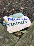 Teachers, Thank You Teachers, Childlike Painted Rock, Rutherford, NJ, USA