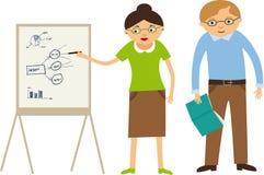 Teachers. Vector illustration of teachers and a board Stock Photos