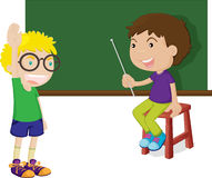 Teaching. Illustration of children play one's role Stock Photography