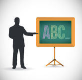 Teaching the abc illustration design. Over a white background vector illustration