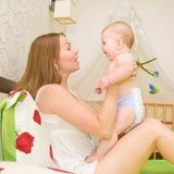 teaching baby to speak Royalty Free Stock Image