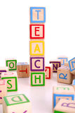 Teaching blocks Royalty Free Stock Photos