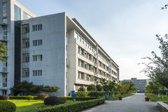 The teaching building. This photo was taken in Nanjing Cllege of Information Technology,Nanjing city,china.Photo taken on:Aug 4th,2015 Stock Photo
