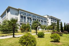 The teaching building. This photo was taken in Xianlin campus,Nanjing University of Posts and Telecommunications,Nanjing city,china.Photo taken on:Aug 2th,2015 Royalty Free Stock Image
