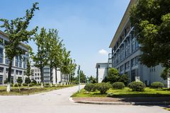 The teaching building. This photo was taken in Xianlin campus,Nanjing University of Posts and Telecommunications,Nanjing city,china.Photo taken on:Aug 2th,2015 Stock Photography
