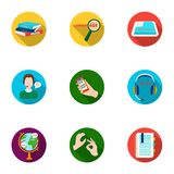 Teaching Chinese in Russia. Translation of the Chinese language.Interpreter ang translator icon in set collection on. Flat style vector symbol stock web Royalty Free Stock Image