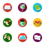 Teaching Chinese in Russia. Translation of the Chinese language.Interpreter ang translator icon in set collection on. Flat style vector symbol stock web Royalty Free Stock Photography