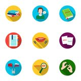 Teaching Chinese in Russia. Translation of the Chinese language.Interpreter ang translator icon in set collection on. Flat style vector symbol stock web Royalty Free Stock Photo