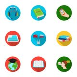 Teaching Chinese in Russia. Translation of the Chinese language.Interpreter ang translator icon in set collection on. Flat style vector symbol stock web Stock Photography