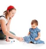 Teaching daughter royalty free stock image