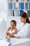 Teaching daughter Stock Image
