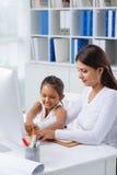 Teaching daughter Stock Image