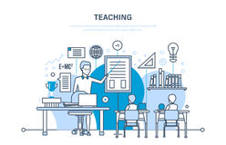 Teaching, education and training, learning, modern system of education. Stock Photo