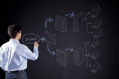 Teaching a firewall solution Stock Photography