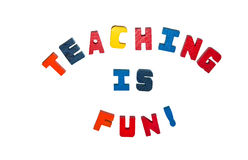 Teaching is Fun. Concept around teaching and education royalty free stock image