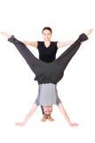 Teaching gymnastics Royalty Free Stock Images