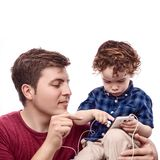 Teaching his son Royalty Free Stock Photo