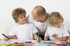 Teaching at home stock images