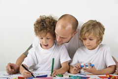 Teaching at home royalty free stock photos