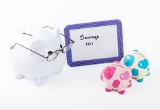 Teaching how to save money Royalty Free Stock Photos