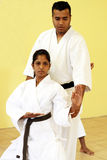 Teaching karate Royalty Free Stock Photography