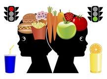 Teaching Kids Eating Habits Royalty Free Stock Image