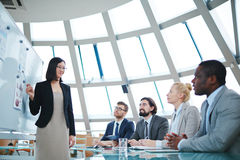 Teaching managers Stock Photography