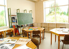 Free Teaching Material Lies On Desks In A Class Stock Images - 78501594