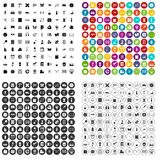 100 teaching materials icons set vector variant. 100 teaching materials icons set vector in 4 variant for any web design isolated on white Royalty Free Stock Images