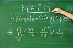Teaching math. Formula on the blackboard stock images