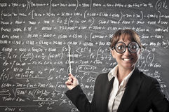Teaching Maths Stock Photo
