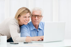 Teaching new technology Stock Images