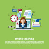 Teaching Online Web Education Banner Royalty Free Stock Photos