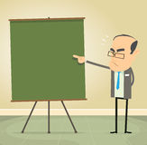 Teaching The Rules. Illustration of a cartoon old school teacher teaching moral values and discipline Royalty Free Stock Photos