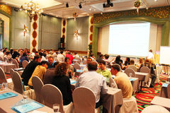 Teaching seminar, Bangkok, Thailand. Royalty Free Stock Photography