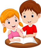 Teaching sister cartoon. With white background Stock Photography