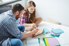 Teaching to draw Stock Image