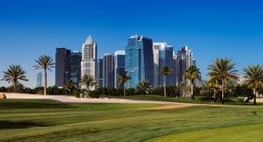 Teacom es un área desarrollada recientemente de Dubai, UAE foto de archivo libre de regalías