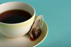 Teacup And Tea Bag Stock Images