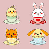Teacup Animals Stock Photo
