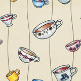 Teacup Background Stock Images