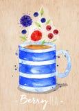 Teacup berry kraft Stock Image