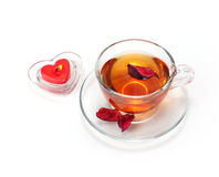 Teacup and candle Royalty Free Stock Photos