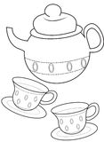 Teacup coloring page. Useful as coloring book for kids Stock Photo